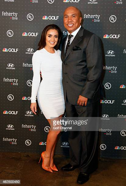 NBC football analyst Hines Ward and Lindsey GeorgalasWard attend Feherty Live at the Orpheum Theatre Phoenix Arizona