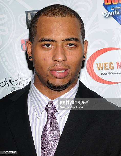 Super Bowl XLV Champion Green Bay Packers' player Andrew Quarless attends a party at Covet Lounge on March 16 2011 in New York City