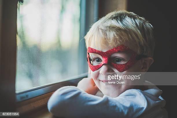 Super Boy By Window