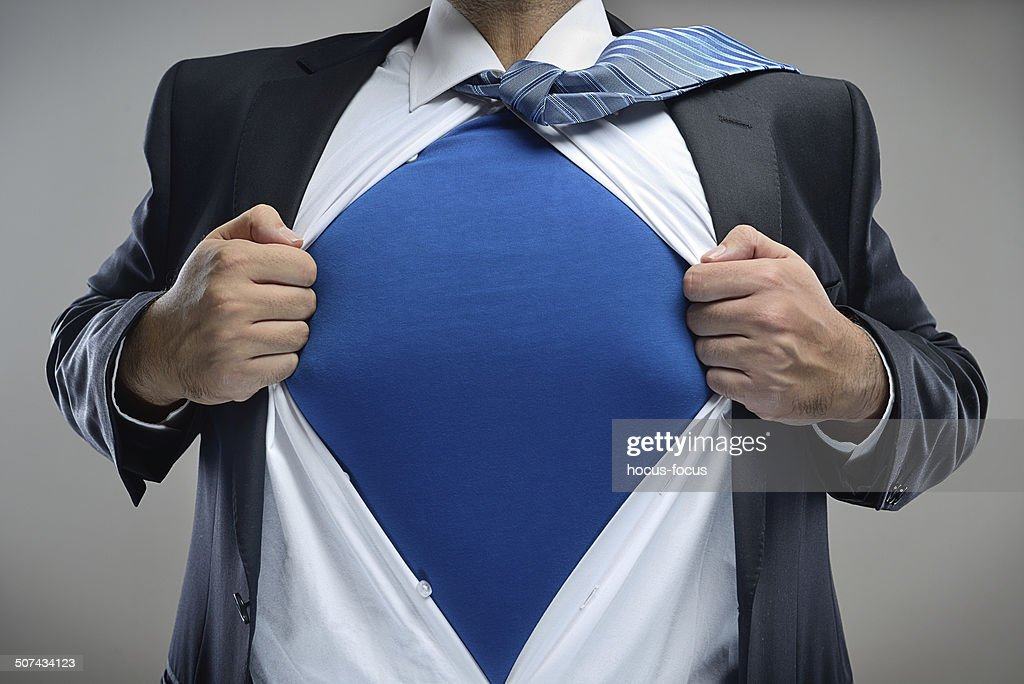 Super businessman : Stock Photo