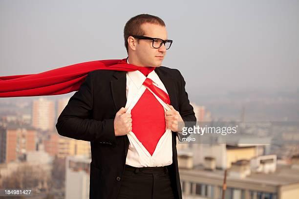 Super businessman ready to help