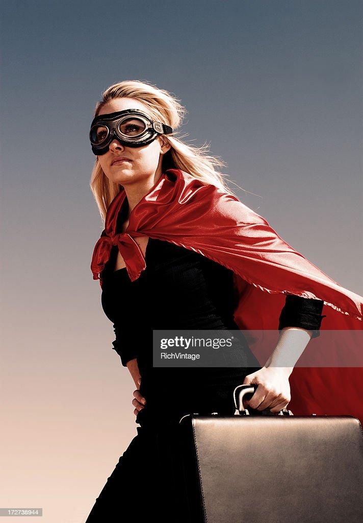 Super Businesswoman : Stock Photo
