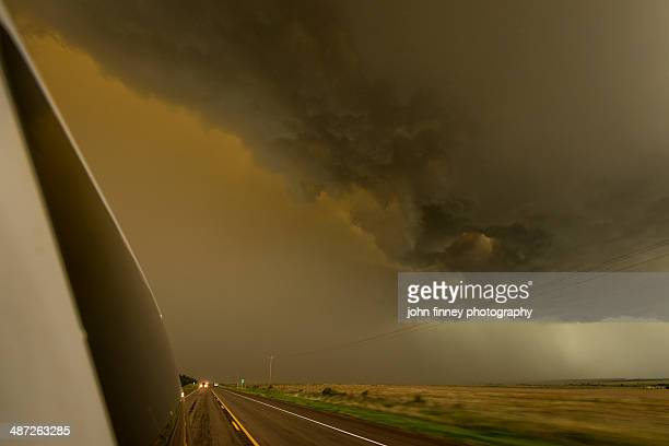 Super cell over highway