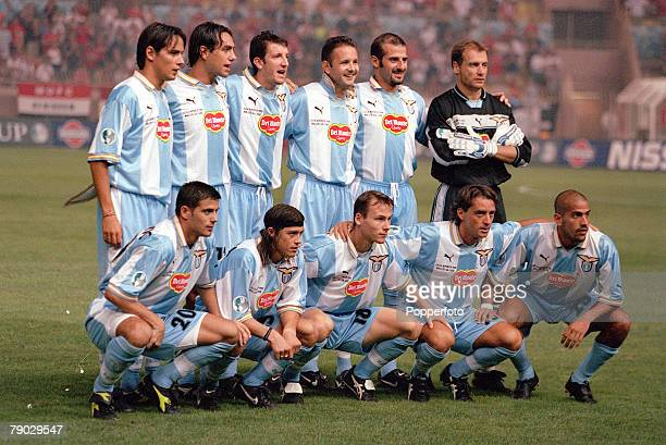 Super Cup Final Monaco 27th August Lazio 1 v Manchester United 0 The Lazio team pose for a team group before the match