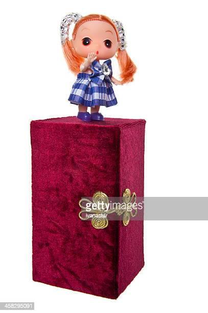 Super Fofo Mini Ddung Boneca pé na caixa de Tesouro
