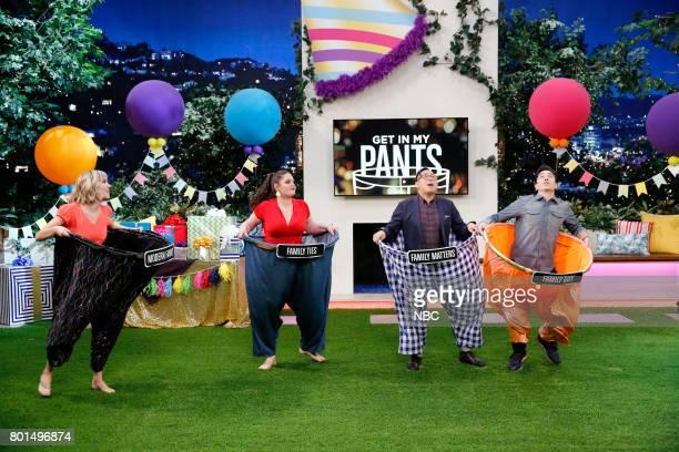 "Super Duper Store Night"" Episode 502 -- Pictured: Contestant, Lauren Ash, Nico Santos, Ben Feldman --"