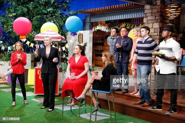 "Super Duper Store Night"" Episode 502 -- Pictured: Natalie Morales, Jane Lynch, Lauren Ash, Cheri Oteri, Ben Feldman, Nico Santos, Contestant,..."