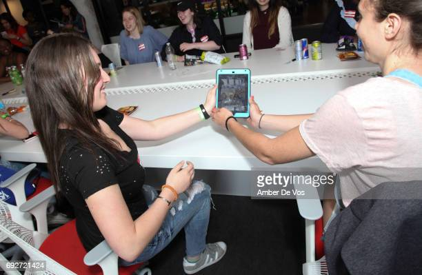 Super Fans at Tumblr x Fifth Harmony Fan Event at Tumblr HQ on June 2 2017 in New York City