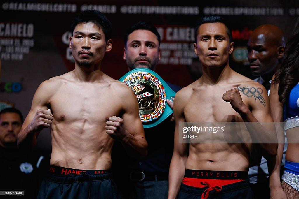 Takashi Miura v Francisco Vargas - Weigh-in : News Photo