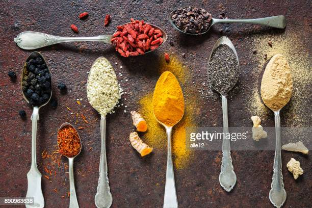 super food background - antioxidant stock pictures, royalty-free photos & images