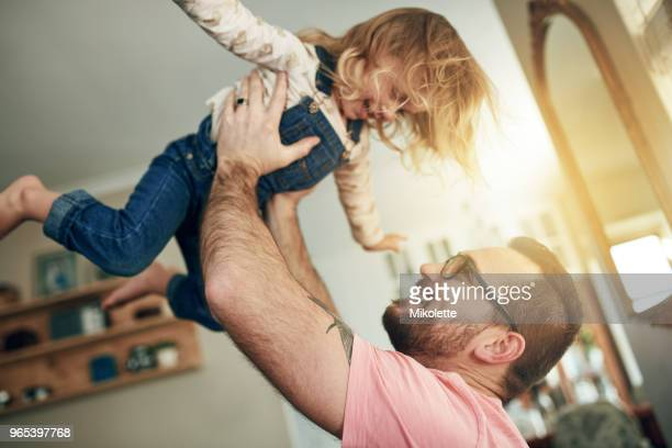 super fun father daughter moments - girl wrestling stock pictures, royalty-free photos & images