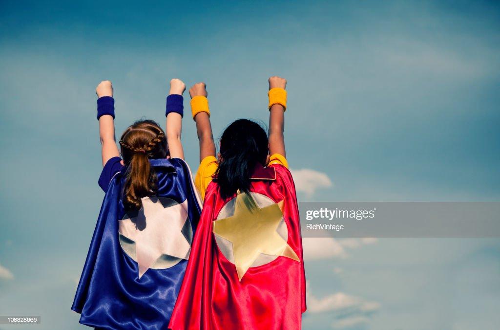 Chica super Duo : Foto de stock