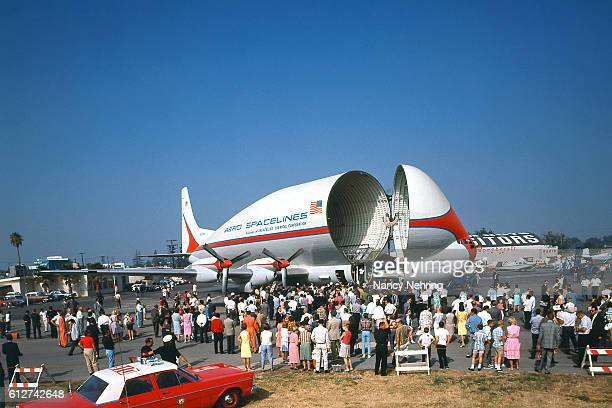 Super Guppy airplane at Van Nuys airport 1965