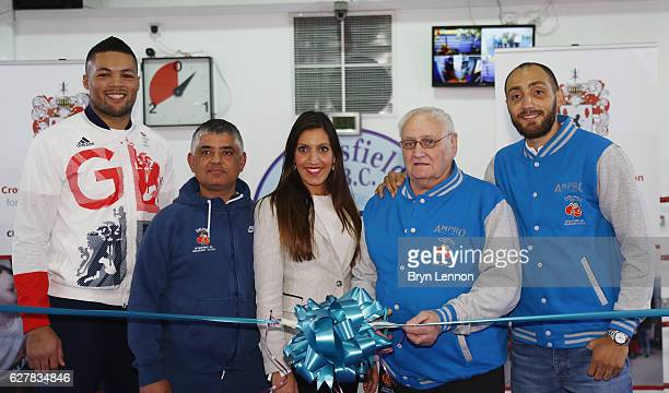 2016 Super Heavyweight Olympic Silver Medallist Joe Joyce Earlsfield ABC Head Coach Sid Khan Tooting MP Dr Rosena AllinKhan Earlsfield Coach Bob...