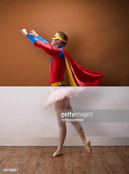 Super hero top, ballet dancer bottom