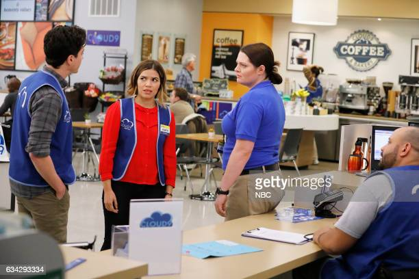 SUPERSTORE 'Super Hot Store' Episode 215 Pictured Ben Feldman as Jonah America Ferrera as Amy Lauren Ash as Dina Colton Dunn as Garrett