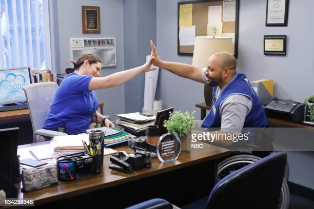 SUPERSTORE 'Super Hot Store' Episode 215 Pictured Lauren Ash as Dina Colton Dunn as Garrett