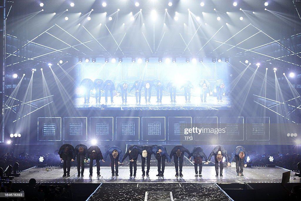 Super Junior Hong Kong concert on Monday March 25, 2013 in Hong Kong, China.
