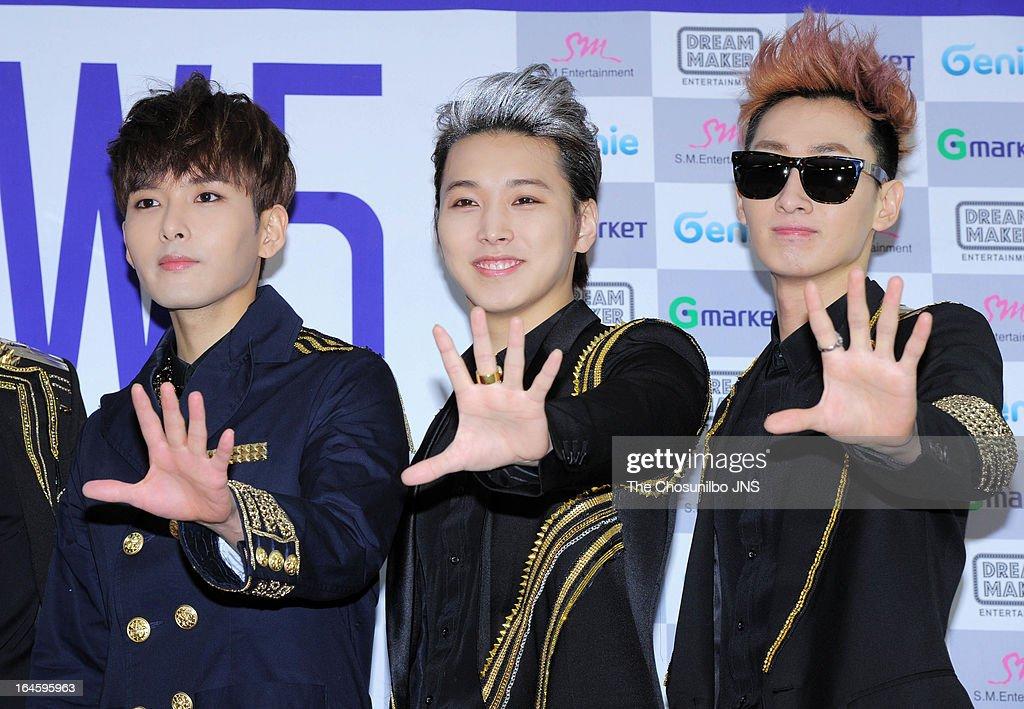 Super Junior promote their concert 'Super Show 5' during the