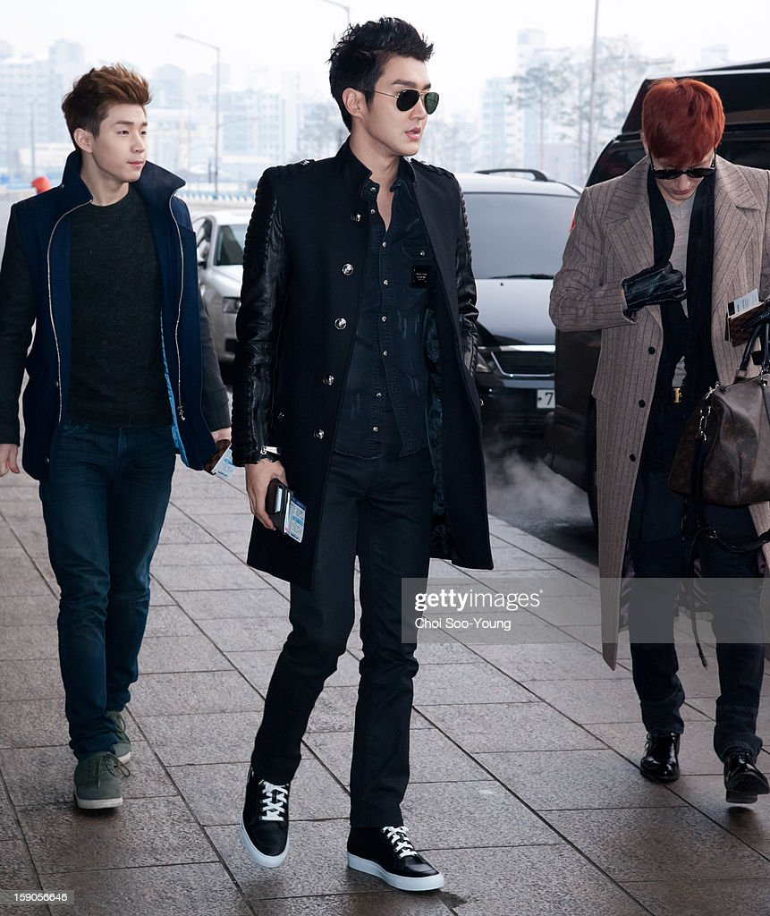 Super Junior-M depart from Gimpo International Airport on January 7, 2013 in Seoul, South Korea.