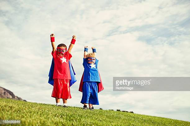 super kids - cape garment stock photos and pictures