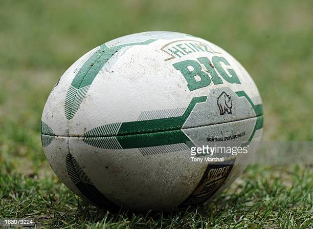 Super League rugby ball during the Super League match between Huddersfield Giants and Bradford Bulls at John Smith's Stadium on March 3 2013 in...