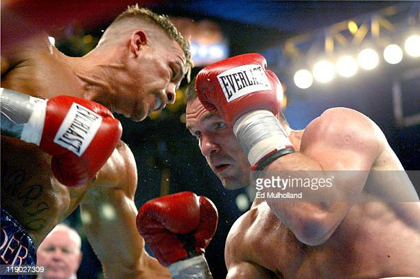 WBC Super Lightweight Champion Arturo Gatti trades punches with Leonard Dorin Gatti knocked out Dorin in the 2nd round at Boardwalk Hall in Atlantic...
