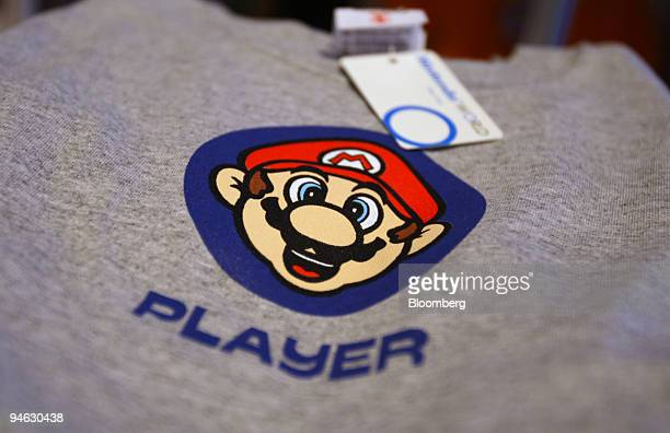 Super Mario tshirt is for sale at the Nintendo World store in New York on Monday Aug 27 2007