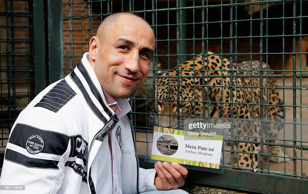Arthur Abraham Adopts A Baby Leopard At The Berlin Zoo