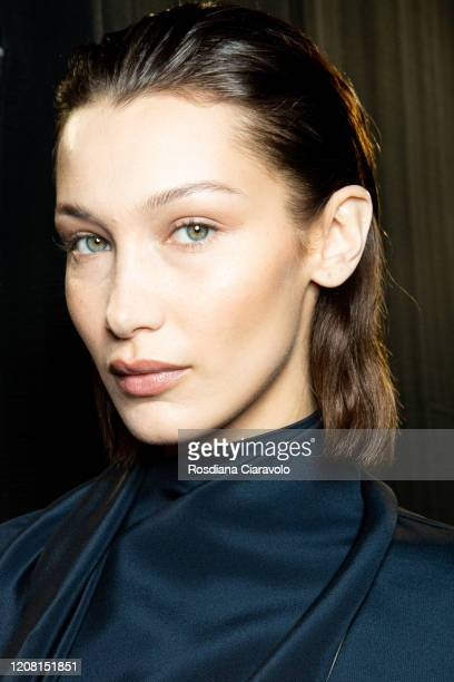 Super Model Bella Hadid is seen backstage at the Boss fashion show on February 23, 2020 in Milan, Italy.