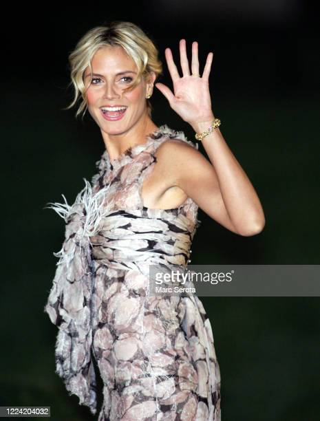 Super model Heidi Clum arrives at BethesdabytheSea Episcopal Church for the wedding of Donald Trump to Slovenian model Melanai Knauss in Palm Beach...
