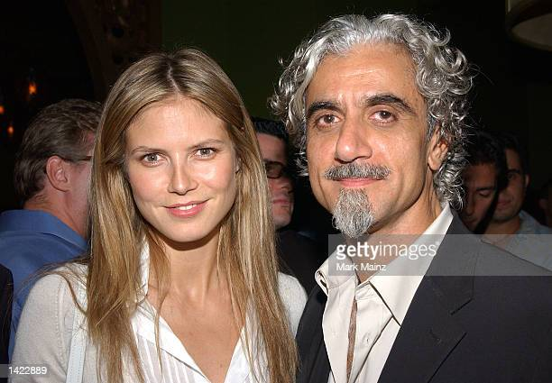 Super Model Heidi Klum and husband Ric Pipino attend the Rosa Cha Post-Show Celebration party hosted by Super Model Naomi Campbell and NC Connect at...