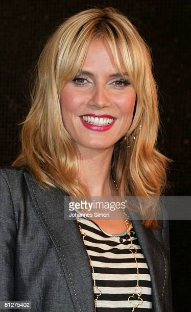 Super model Heidi Klum poses during a press conference at the Munich Inner City McDonald's Restaurant 'Im Tal' on May 29 2008 in Munich Germany