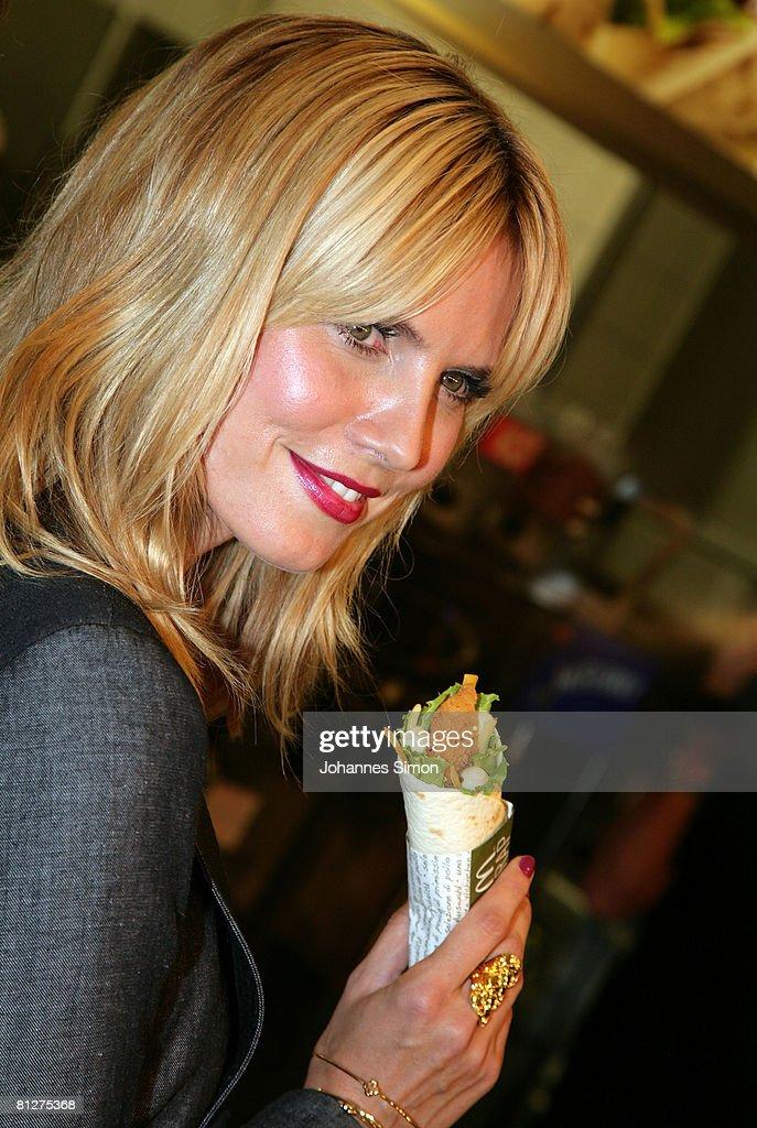 Snack Meets Style With Heidi Klum : Nieuwsfoto's