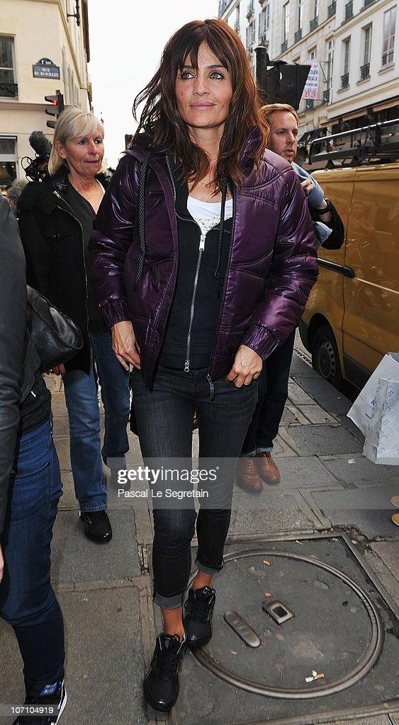 Super Model Helena Christensen arrives at Colette store to attend a Reebok EasyTone event on November 24, 2010 in Paris, France.