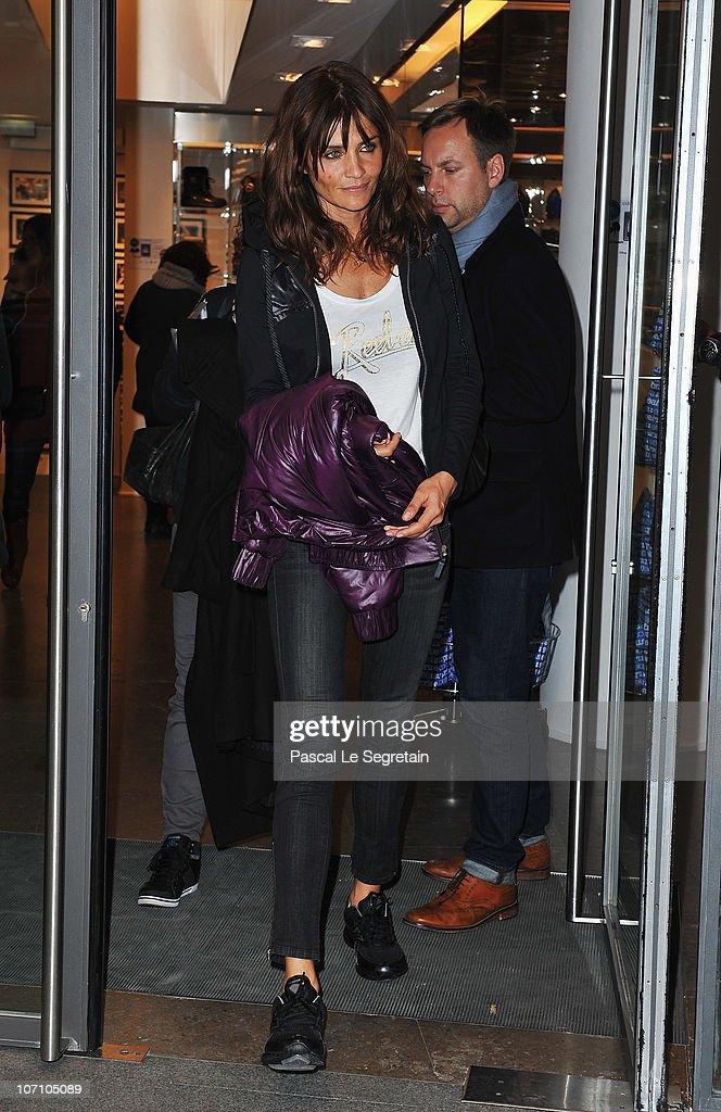 Super Model Helena Christensen leaves the Colette store as she attends a Reebok EasyTone event on November 24, 2010 in Paris, France.