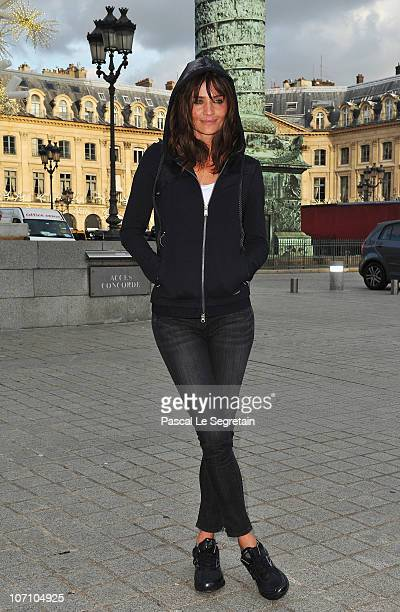Super Model Helena Christensen poses on Place Vendome as she attends a Reebok EasyTone event on November 24 2010 in Paris France