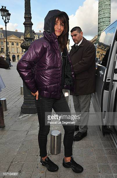 Super Model Helena Christensen walks on Place Vendome as she attends a Reebok EasyTone event on November 24 2010 in Paris France