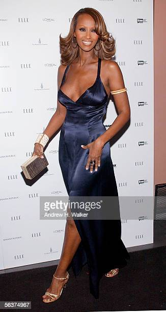 Super model Iman attends ELLE Magazine's Viewing Party for the 2nd Season of Project Runway on December 7 2005 in New York City