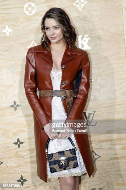 Super Model Miranda Kerr attends the LVxKOONS exhibition at Musee du Louvre on April 11 2017 in Paris France