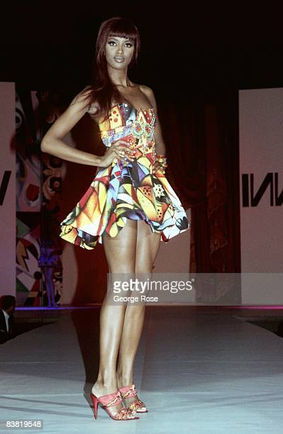 Super model Naomi Campbell wears the latest from Italian designer and toast of Paris, Miami and New York, Gianni Versace, in a 1991 Los Angeles,...