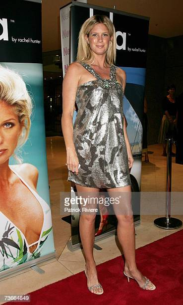 Super Model Rachel Hunter arrives at the St Tropez Beach Party a fundraiser for the Sydney Children's Hospital at Westmead featuring a catwalk...