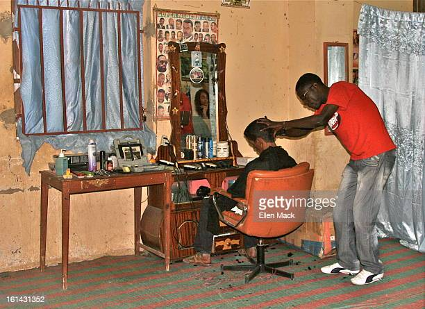 "Super Modern Cuts"" hair salon in Timbuktu, Mali"