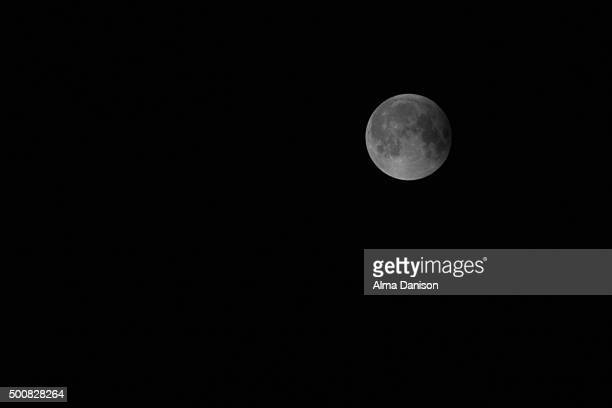 super moon after the lunar eclipse - alma danison stock photos and pictures