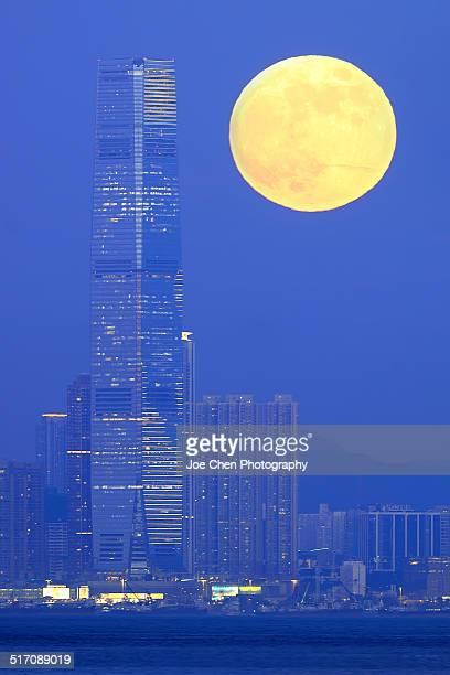 Super Moon, Hong Kong, 2014
