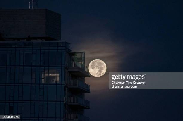 Super Moon Over Coal Harbour