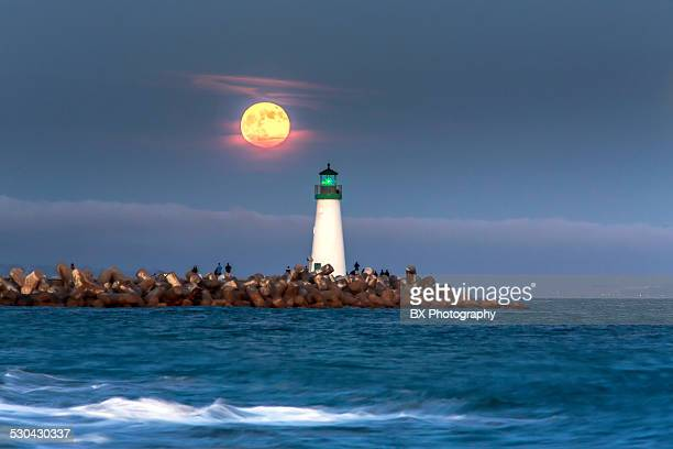 Super Moon over the lighthouse