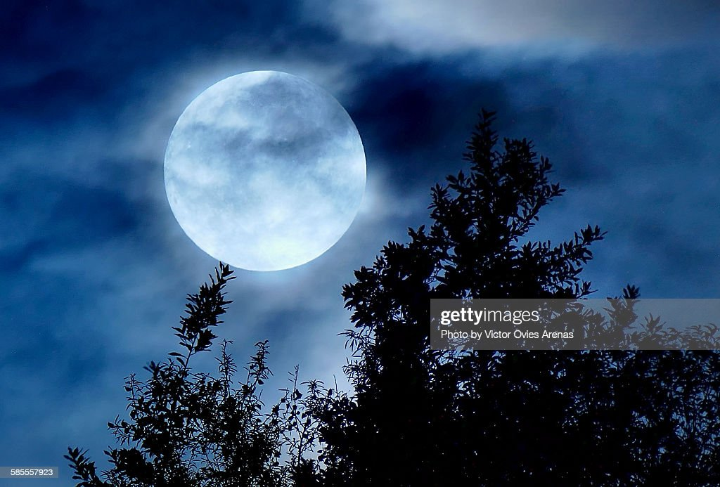Super Moon : Foto de stock
