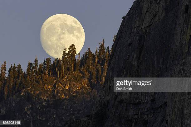 Super Moonrise Near Cathedral Rocks