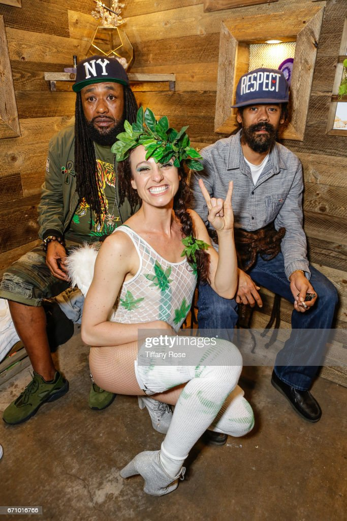 MC Super Natural, guest and artist Damian Marley attend the Tidal